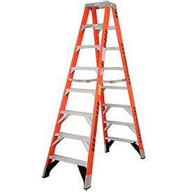 Werner T7408CA - 8' Dual Access Fiberglass Step Ladder, 375 lb. Capacity