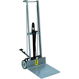 Wesco® Aluminum Foot Pedal Platform Lift Truck 260004 2 Wheel 400 Lb.