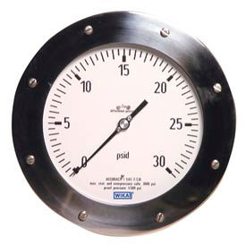 "6"" Type 732.26 100INH2Od Gauge - 1/4"" Female NPTx2 TBM Powder Aluminum"