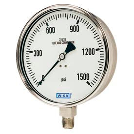 "2.5"" Type 232.50 200PSI Gauge - 1/4"" NPT LM Stainless Steel"