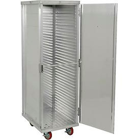 "Winholt EC1840-CLC Enclosed Mobile Transport Cabinet, 68""H, 40 Pan Capacity, Aluminum"