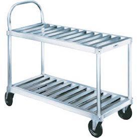 Winholt® Heavy Duty Aluminum Sani-Stock Cart TBST-1837 2 Shelves