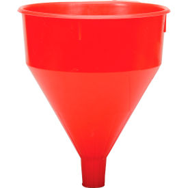 Funnel King® Red Safety Polyethylene 6 Quart Funnel - 32005