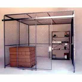 Husky Rack & Wire Preconfigured Room 2 Sided 20' W x 10' D x 10' H w/ 5' W Slide Door