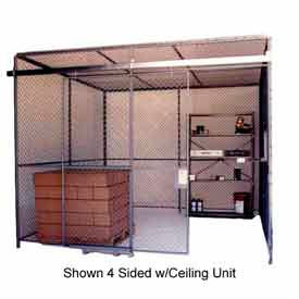 Husky Rack & Wire Preconfigured Room 3 Sided 10' W x 10' D x 8' H w/ 5' W Slide Door