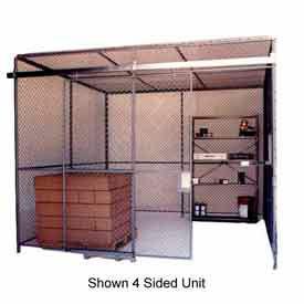 Husky Rack & Wire Preconfigured Room 3 Sided 10' W x 10' D x 8' H w/ 5' W Slide Door w/Ceiling
