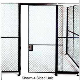 Husky Rack & Wire Single Swing Door 3' Wide x 7' Tall With 3Ft. Transom