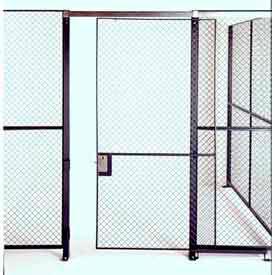 Husky Rack & Wire Single Slide Door 5' x 7' Tall, W/1 Ft. Transom