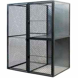 "Husky Rack & Wire Tenant Locker Double Tier Add-On Unit  4' W x 5' D x 7'-6"" Tall"