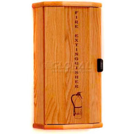 Wooden Mallet Fire Extinguisher Cabinet, 5 lb Cap, Light Oak, FEC10LO