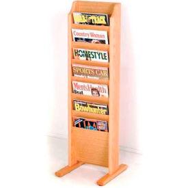 Wooden Mallet Cascade™ Free-Standing 7 Pocket Magazine Rack, Light Oak