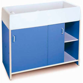 Whitney Brothers EZ Clean Infant Changing Cabinet - Blue