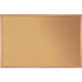 "Ghent Bulletin Board - Cork - Wood Frame - 36"" x 46.5"" - Natural"