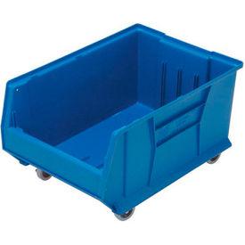 Quantum Mobile Hulk Plastic Stackable Storage Bin QUS964MOB 16-1/2 x 23-7/8 x 11 Blue