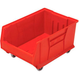 Quantum Mobile Hulk Plastic Stackable Storage Bin QUS964MOB 16-1/2 x 23-7/8 x 11 Red