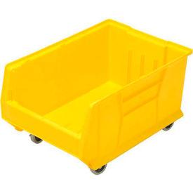 Quantum Mobile Hulk Plastic Stackable Storage Bin QUS964MOB 16-1/2 x 23-7/8 x 11 Yellow