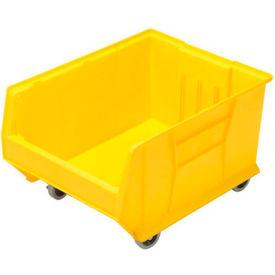 Quantum Mobile Hulk Plastic Stackable Storage Bin QUS965MOB 18-1/4 x 23-7/8 x 12 Yellow
