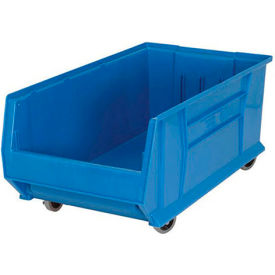 Quantum Mobile Hulk Plastic Stackable Storage Bin QUS984MOB 16-1/2 x 29-7/8 x 11 Blue