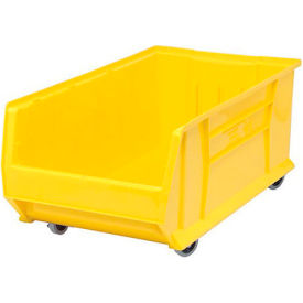 Quantum Mobile Hulk Plastic Stackable Storage Bin QUS984MOB 16-1/2 x 29-7/8 x 11 Yellow