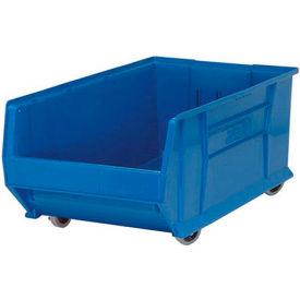 Quantum Mobile Hulk Plastic Stackable Storage Bin QUS985MOB 18-1/4 x 29-7/8 x 12 Blue