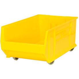 Quantum Mobile Hulk Plastic Stackable Storage Bin QUS985MOB 18-1/4x29-7/8x12 Yellow