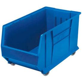 Quantum Mobile Hulk Plastic Stackable Storage Bin QUS986MOB 16-1/2 x 29-7/8 x 15 Blue