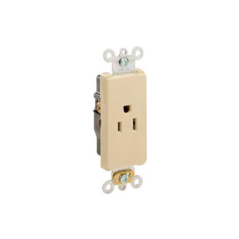 LEVITON 16242 self grounding duplex receptacle 5-15R 15 amp 125 volt Decora