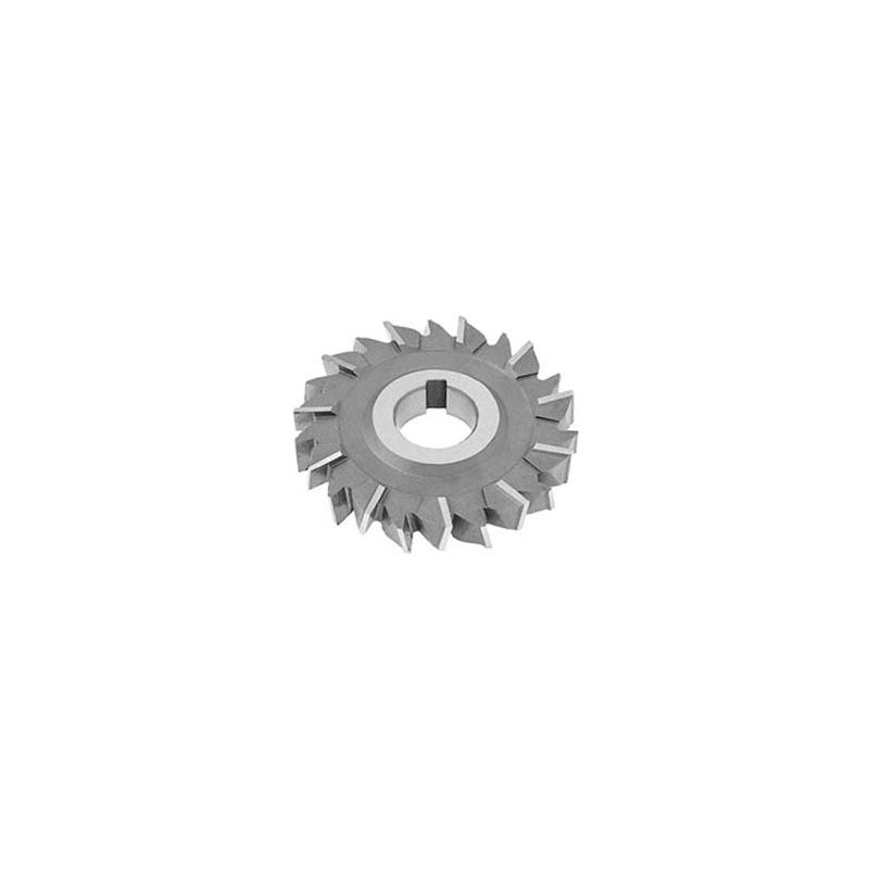 HSS Import Staggered Tooth Side Milling Cutter 6 DIA x 7//8 Face x 1 Hole x 24 Teeth