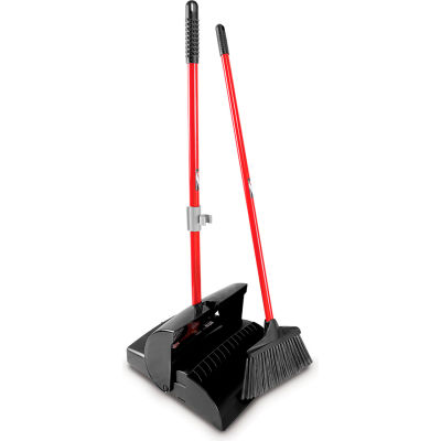 Libman® 917 Commercial Lobby Broom & Dust Pan Set - Closed Lid - Pkg Qty 2
