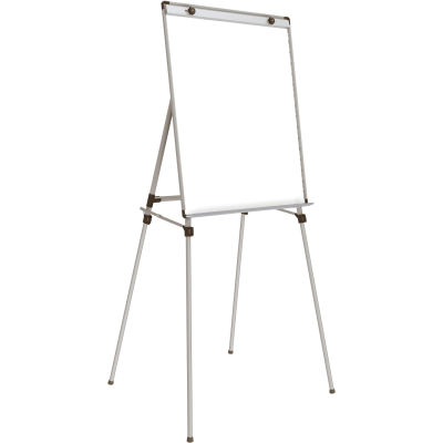 "Ghent Adjustable Easel - 4 Legs - Aluminum / Steel - 36""W x 69.75H - Satin / Gray"