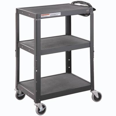 Global Industrial™ Steel Audio Visual & Instrument Cart - Black