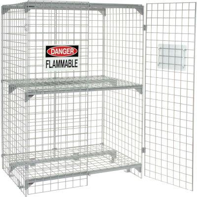 Global Industrial™ Vertical 18 Cylinder Storage Cabinet, Manual Close