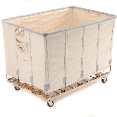 Dandux Canvas Basket Bulk Truck 40072018-3S 18 Bushel - White