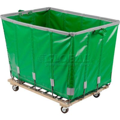 Dandux Vinyl Basket Bulk Truck 400720G18E-3S 18 Bushel - Green