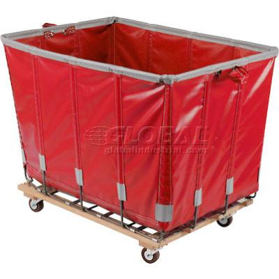 Dandux Vinyl Basket Bulk Truck 400720G16R-3S 16 Bushel - Red