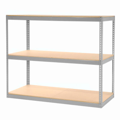 """Global Industrial™ Record Storage Rack Without Boxes 72""""W x 30""""D x 60""""H - Gray"""