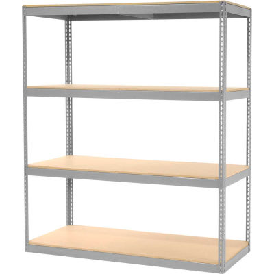 """Global Industrial™ Record Storage Rack Without Boxes 72""""W x 30""""D x 84""""H - Gray"""