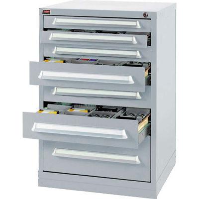 Lyon Modular Storage Drawer Cabinet DDS35453010030 Bench Height, Gray