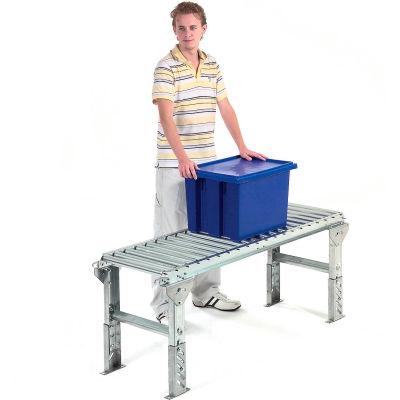 "Omni Metalcraft 1-3/8"" Dia. Aluminum Roller Conveyor Straight Section RAHS1.4-12-4.5-10"