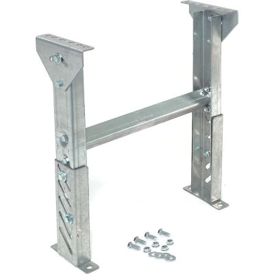 """Omni Metalcraft 1.9"""" Roller Conveyor Leg Support 24""""W I.D. with 54"""" to 66""""H"""