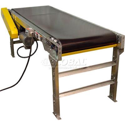 "Omni Metalcraft Powered 24""W x 20'L Belt Conveyor without Side Rails BHSE24-0-22-F60-0-0.5-4"