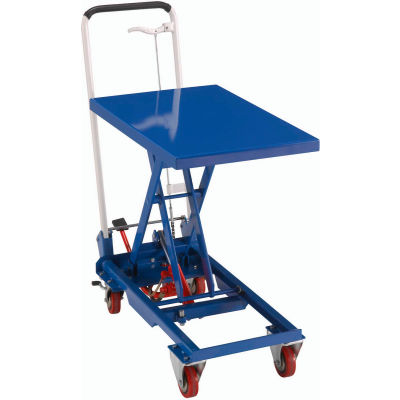 "Global Industrial™ Mobile Scissor Lift Table, 27""L x 17""W Platform, 330 Lb. Cap."