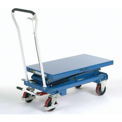 "Global Industrial™ Mobile Double Scissor Lift Table, 39"" x 20"" Platform, 660 Lb. Capacity"