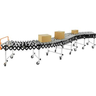 "Global Industrial™ Portable, Flexible & Expandable Conveyor Steel Skate Wheels,6'2""-24'8"", 24""W"