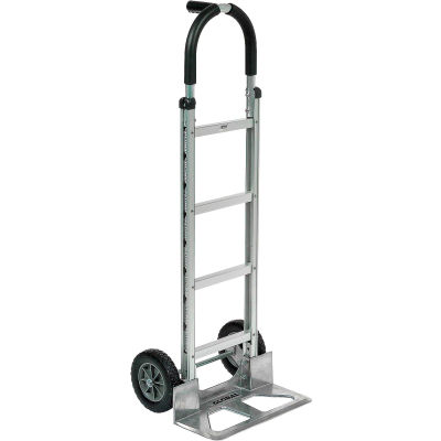 Global Industrial™ Aluminum Hand Truck - Pin Handle - Mold-On Rubber Wheels