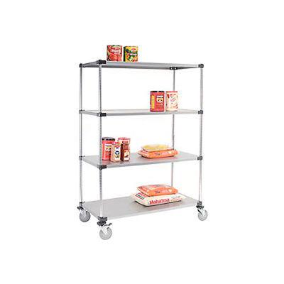 Nexel® Galvanized Shelf Truck 72x24x69 1200 Pound Capacity With Brakes