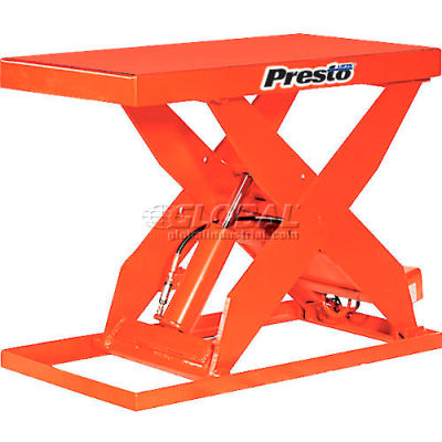 PrestoLifts™ HD Scissor Lift Table XL36-30H 48x24 Hand Operated 3000 Lb.