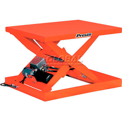 PrestoLifts™ Powered Scissor Lift Table XS36-15H Hand Control 1500 Lb.