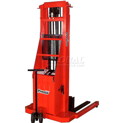 PrestoLifts™ Battery Power Lift Straddle Stacker PS286 Fixed Legs 2000 Lb.