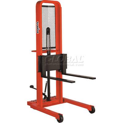 PrestoLifts™ Hydraulic Stacker Lift Truck M478 1000 Lb. with Adj. Forks